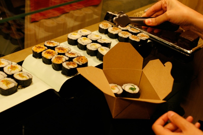 Sushi vegano en la camelia