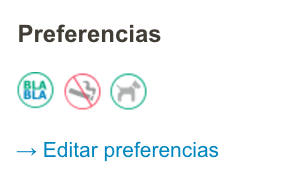 Blablacar preferencias