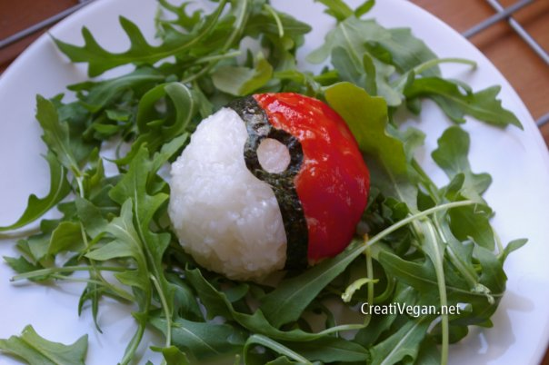 Pokeball de arroz CreatiVegan
