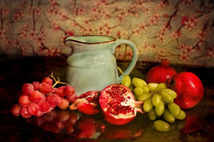 fruta con jarra